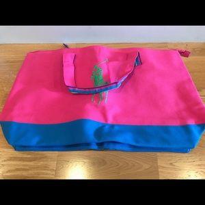 NWT Ralph Lauren Gwp Pink large Zip canvas duffel
